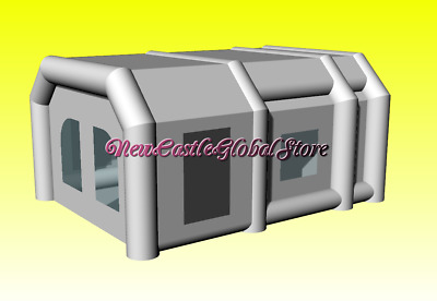 custom made portable inflatable 20' long 15' wide 10'h oxford paint spray booth