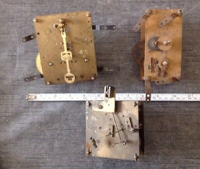 Antique Clock Movements To Restore Or For Spare Parts
