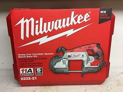 Milwaukee Deep Cut Vairiable Speed Band Band Saw New with Hard Case 6232-21
