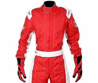 LRP Adult Kart Racing Suit Red- Speed Suit CIK/FIA Level 2 Rated UK Seller