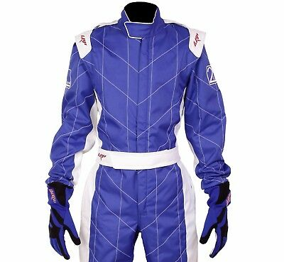 LRP Adult Kart Racing Suit Blue - Speed Suit CIK/FIA Level 2 Rated UK Seller