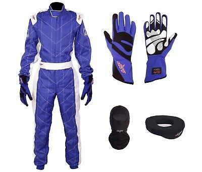 LRP Adult Kart Racing Suit Blue CIK/FIA Level 2 Rated Whole Set, UK Seller