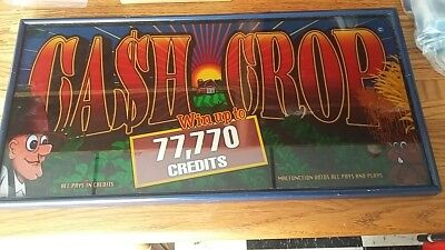 "Vintage Framed Slot Machine Glass Display Board Sign ""cash Crop 777"""