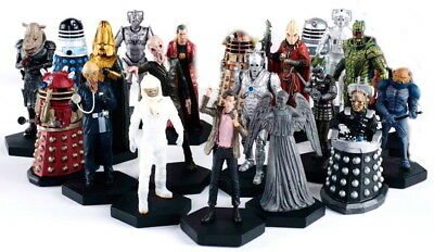 """Doctor Who Painted Figurines Imported-Eaglemoss- 5"""" Tall w Magazine- Your Choice"""