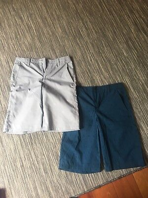 Lot Of 3 Youth Large/Size 16 Under Armour Boys Printed Golf Shorts EUC
