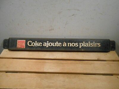 "Vintage Coca Cola Coke 31 1/2"" X 3 1/4"" Soda Pop Bottle Door Pushbar Sign"