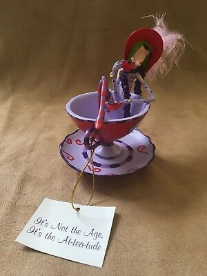 Dolly Mama's Red Hot-Teas Figurine Red Hat Hamilton Collectible w/Tag