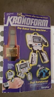 NEW AND VERY RARE 1980's Takara Kronoform Watch Gold Chrome Transformers