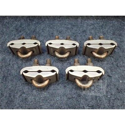 """Lot of 5 Burndy GK6429 Mechanical Ground Clamp, 5/8""""-3/4"""", 2/0AWG Solid-250KCMIL"""