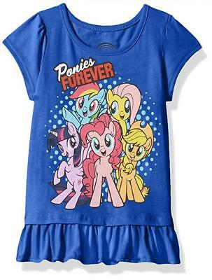 My Little Pony Toddler Girls S/S Blue Character Print Top Size 2T 3T 4T