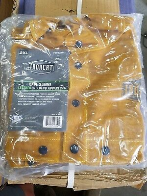 IRONCAT Heat Resistant Split Cowhide Leather Welding Cape XX-Large