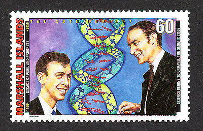 Marshall Islands, Scott # 702-E, Science Begins To Unravel The Genetic Code Dna