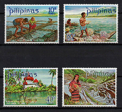 Philippines, Scott # 1090-1093, Set Of 4 Cultures Pearl Farm, Davao, Mosque, Mnh