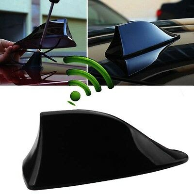 1X Car Shark Fin Universal Roof Antenna Radio FM/AM Decorate Aerial