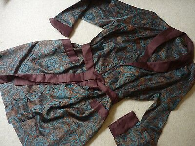 """Vintage Men's Marks & Spencer Dressing Gown Chest up to 38"""" Paisley Design"""