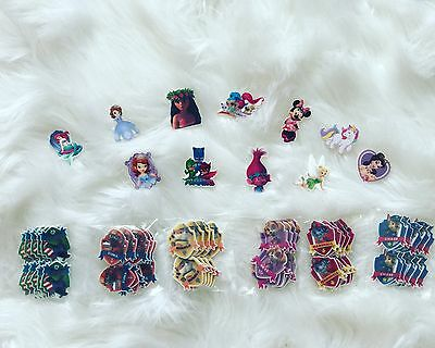 Mixed Lot Disney Character Flat back Resin Embellishment For Craft Bow Maker
