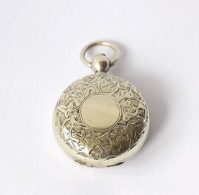 Victorian Silver Plated Sovereign Case, Holder. Victoria Head Spring Coin Plate.