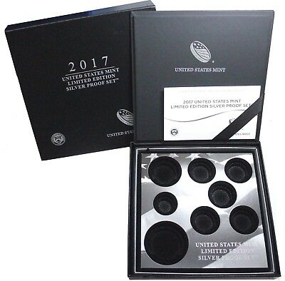2017 S United States Mint Limited Edition Silver Proof Set No Coins