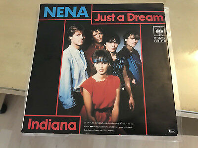 Nena Just a Dream / Indiana CBSA 3249 Single Netherlands Holland MINT Mega Rare!