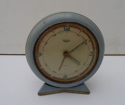 Vintage Smiths Empire Metal wind-up Alarm Clock - for spares or repair