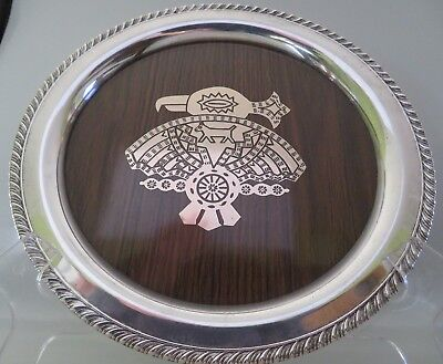 Vtg Rogers Inlay Silver Plate, Formica Serving Tray, Native American Thunderbird