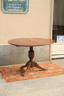 Table In Wood Walnut, Period '800 / Table Piedmont / Table Nut / Table