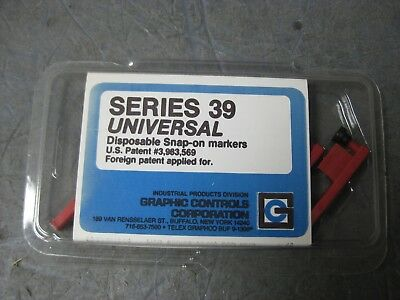 New Graphic Controls Series 39 Universal 82-39-0202-06 RED MKR Pens (Pack of 6)