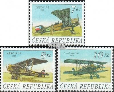 czech republic 127-129 (complete.issue.) unmounted mint / never hinged 1996 Airc