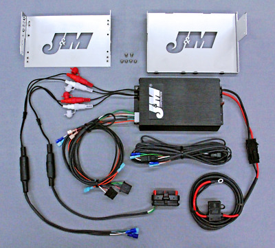 J&M Audio 400 Watt 4 Channel Amp Kit for 2006-2013 Harley-Davidson Street Glide