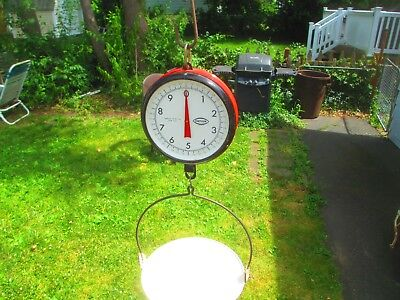 Vtg Antique Chatillon Hanging Scale Double Sided Country Store Kitchen