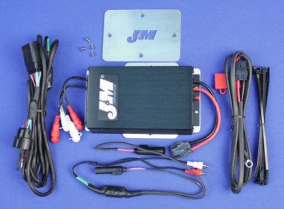 J&M Audio 400 Watt 4 Channel Audio Amp Kit for 2016 & Up Harley Road Glide Ultra