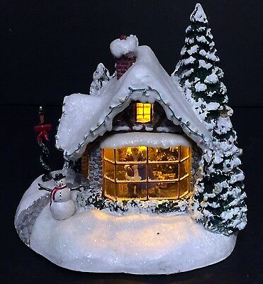 Thomas Kinkade Stillwater Cottage Lighted Village House Teleflora 2005 Rare