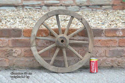 Vintage old small wooden cart wagon wheel  / 50 cm - FREE DELIVERY