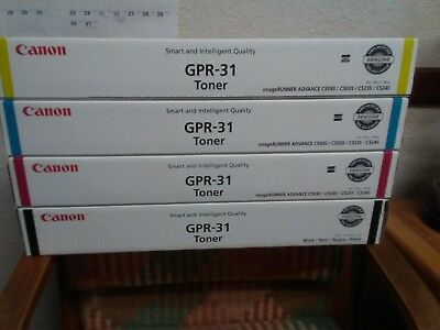 Canon Gpr - 31 Toner / Genuine / 4 Colors, Sealed, Office Over Stock