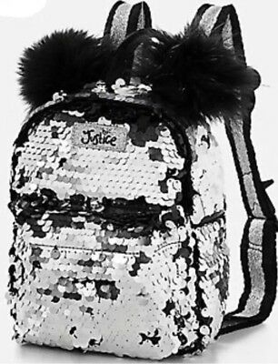 Justice Girl's PANDA Flip Sequin Mini Backpack New with Tags