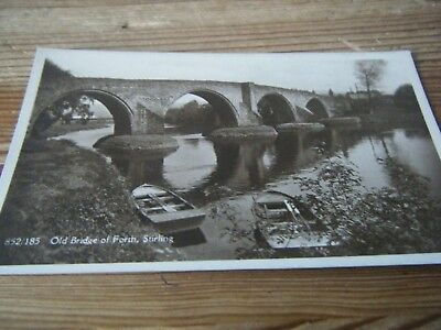 Early   Rp  Card -   The  Old Bridge Of Forth -   Stirling  -  852 /185   Unused