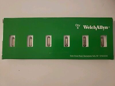 NEW WELCH ALLYN GENUINE 03100-U REPLACEMENT BULBS for OTOSCOPE; PACK of 6