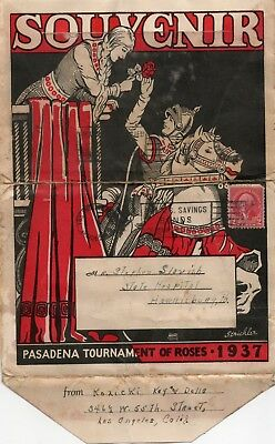 Gd 1937 Pasadena Tournament of Roses Souvenir Folder w/16 B&W Photos California