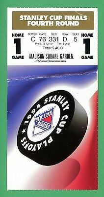 1994 New York Rangers Stanley Cup Finals Ticket Game 1 Vancouver Canucks