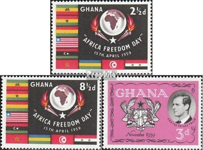 Ghana 46-47,68 (complete.issue.) unmounted mint / never hinged 1959 Freedom, Phi