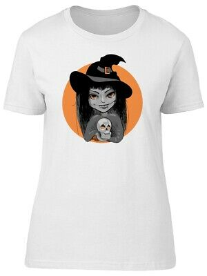 Witch With Hat And Skull Women's Tee -Image by Shutterstock