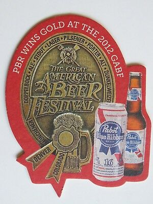 Beer Coaster ~ PABST Blue Ribbon Wins Gold at the 2012 Great American Beer Fest!