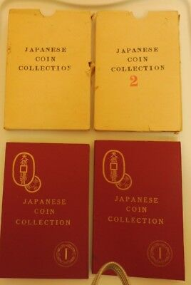 Japanese Coin Collection - 2 Volumes - 57 coins - early 1950's set