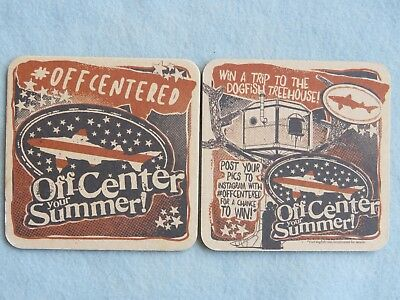 Beer Collectible Coaster ~ DOGFISH HEAD Brewing Co ~ Off-Center Your Summer!