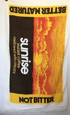 Nestle Sunrise instant coffee mellowed With Chicory Sun Beach Towel Vintage 70's