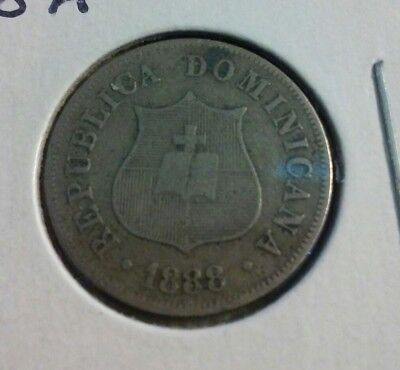 1888 A   Dominican Republic 2-1/2 Centavos Coin - KM#7.3  - (#IN1344)