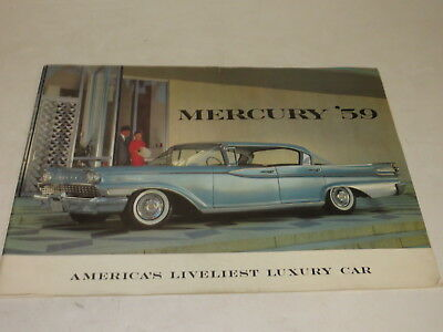 Vintage 1959 Mercury Luxury Automobile Brochure