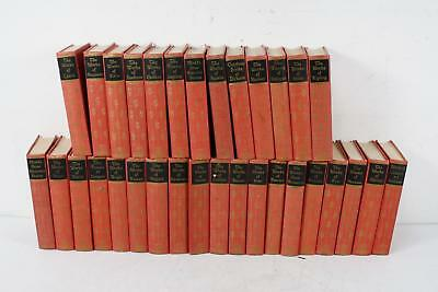 Lot of 31 Vintage Decorative Red Spine Books Black's Readers Service Library