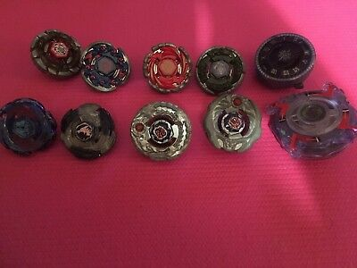 Used Beyblade Metal Series Lot Of 10 with 2 launchers (Pegasus l drago, Ifrit)