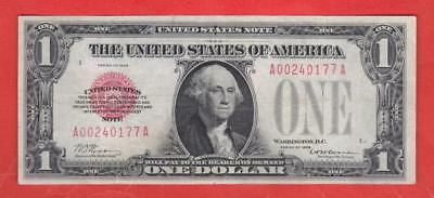 """$1 1928 Red Seal """"BEAUTIFUL"""" FUNNYBACK United States Note!"""